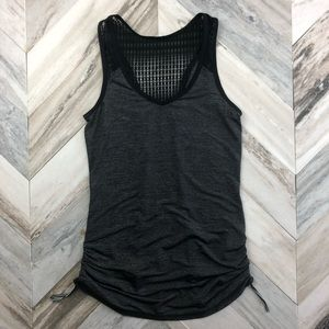 Lululemon Run Tie & Fly Tank Top Black Grey Lace 6